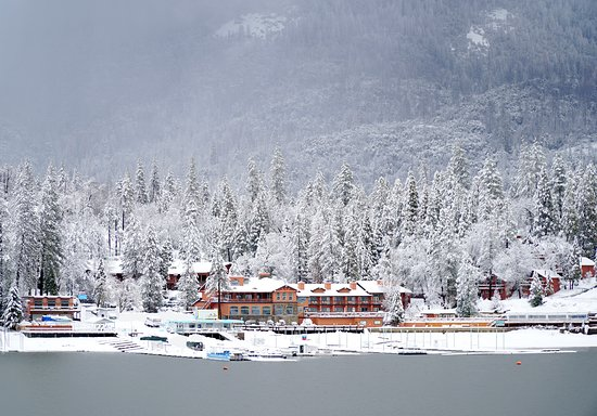 The Pines Resort in between snowfall