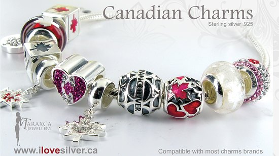Taraxca Jewellery: Canadian charms for your bracelet