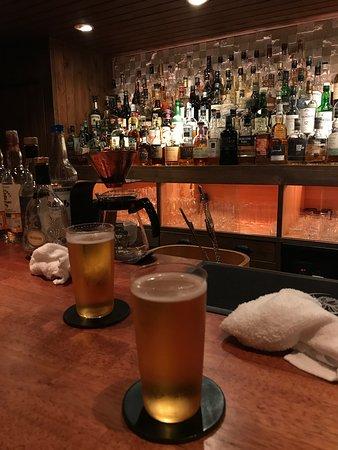 Having a beer at Bar Ichi