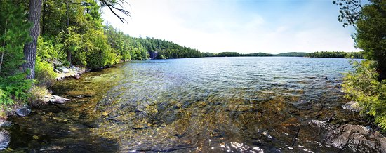 Algonquin Highlands, Kanada: North Clear Lake looking south.