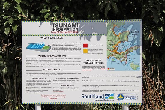 Tsunami warning poster - Picture of Oban Visitor Centre, Stewart