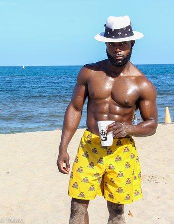 Hotel Montana Haiti: TMMG Haitian Flag Swim shorts https://tmmgstore.com/