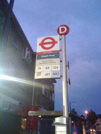 Bus Stop opposite restaurant - Picture of Saravanaa Bhavan, Wembley