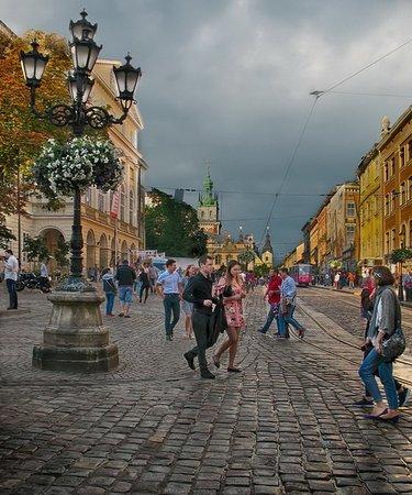 Lvov, Ukraina: Город в котором я живу.  Львов, площадь Рынок