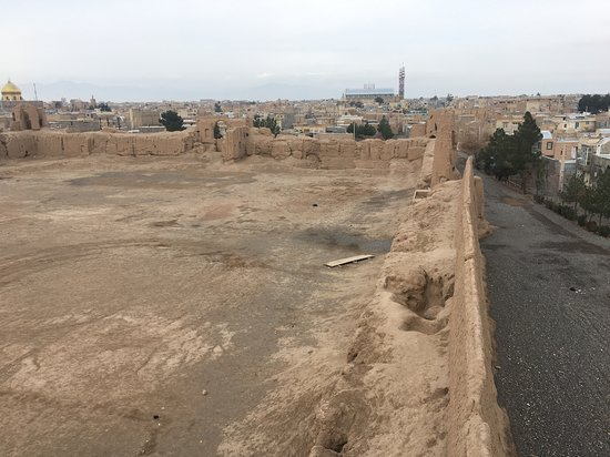 View from a tower of the old Citadel in Nushabad