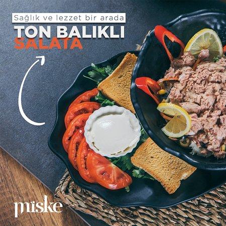 Sağlık ve lezzet bir arada; ton balıklı salata.