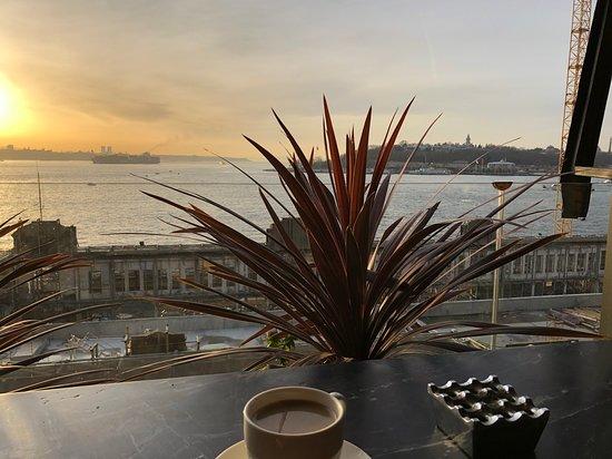 Bosphorus view from restaurant