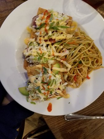 Tuna Tartar With Noodles This Was Delicious Picture Of The Phoenix Restaurant Bar Port Aransas Tripadvisor