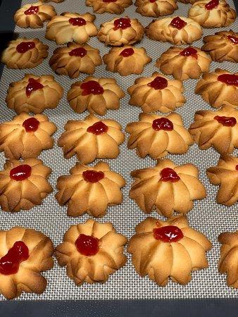 Cookies und Honig-Schokokuchen