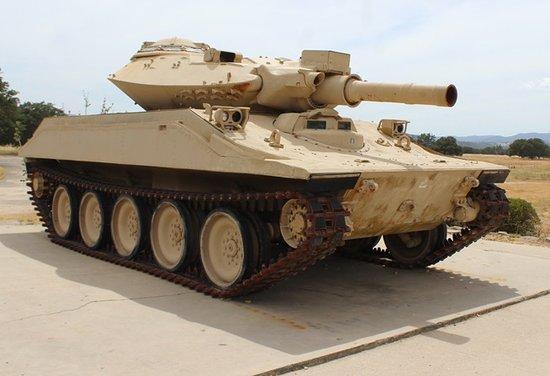 Jolon, CA: Sheridan M551 tank
