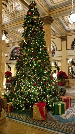 Gorgeous decorated tree in the lobby!
