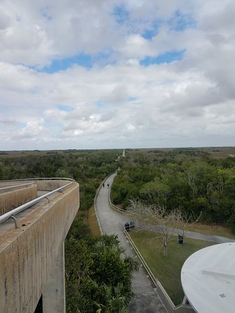 View of the bike trail from the look out in the middle