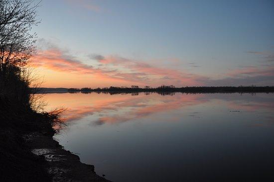 Udmurt Republic, Rosja: Весенний спокойный вечер на Каме
