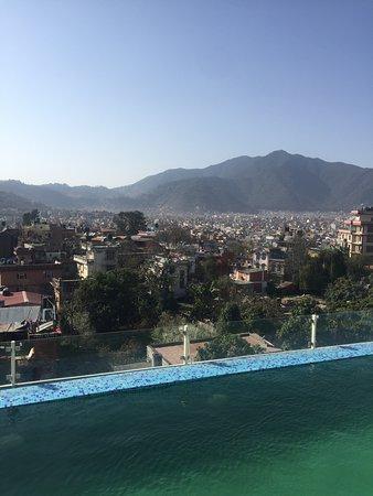 Uitstekend hotel met rooftop, prachtig uitzicht over Kathmandu