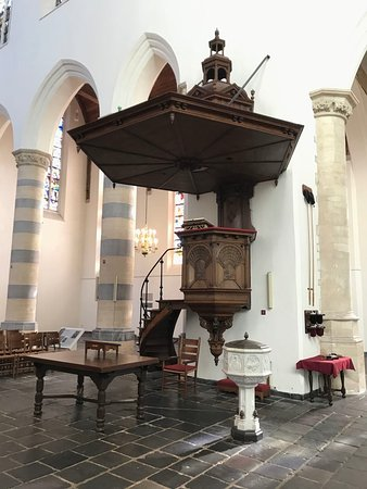 The famous pulpit, dating back to 1542