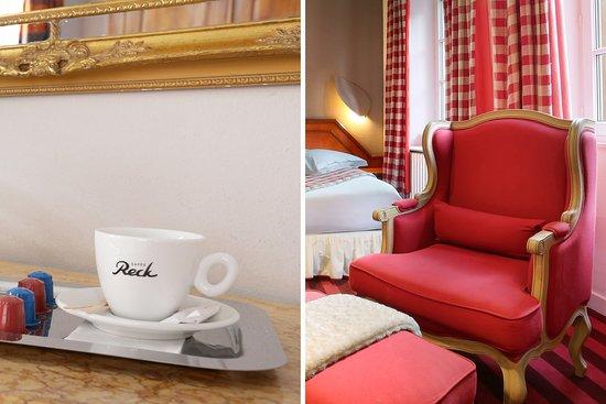 Hotel Suisse: chambre familiale supérieure vue cathédrale