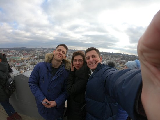 Lviv, Ukrajina: С друзьями. 14.02