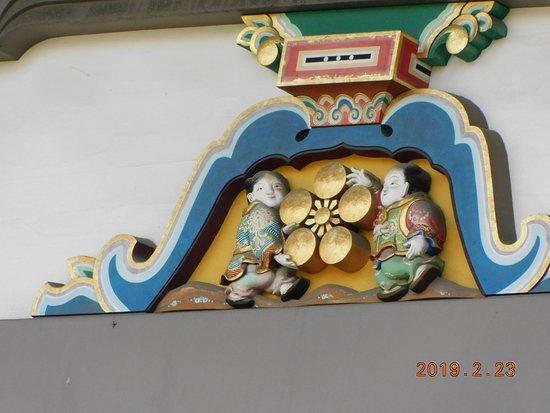 Yushima Tenjin Ume Blossom Matsuri: 境内建築物の梅マーク