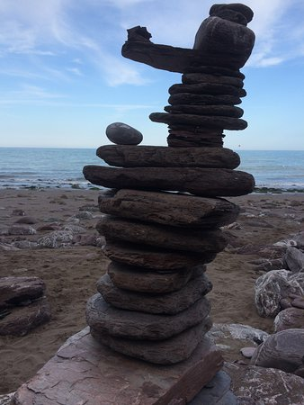 Rock art sculptures, a fascinating art becoming popular and now found all around the South Devon coastline.