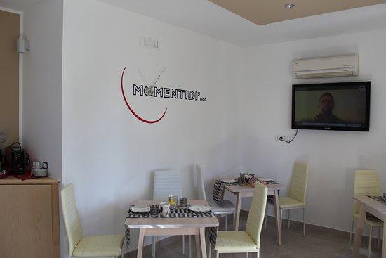 Sala Colazione e Relax del B&B Momentidì Capaccio Paestum