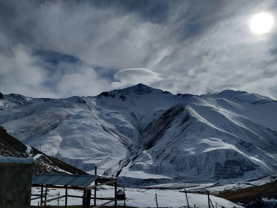 Khinalug, Azerbaijan: Winter is mountains season