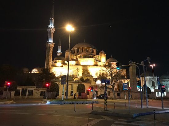 The Prince's Mosque across the street