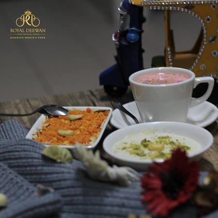 Kashmiri Tea with Gajar Halwa and Kheer
