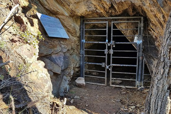 Mine shaft gated for public safety