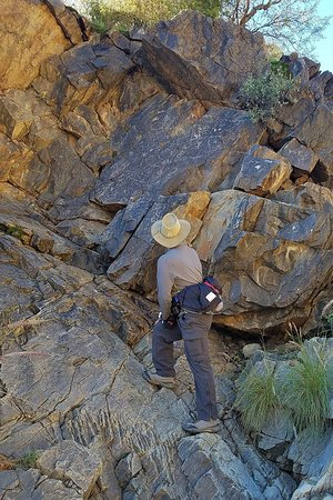 Rock art -- petroglyphs -- are probably a combination of old and new