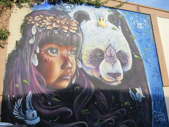 Fresque Femme Et Panda