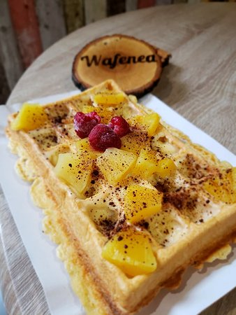 Just another custom waffle, inspired by one of our loyal customers.