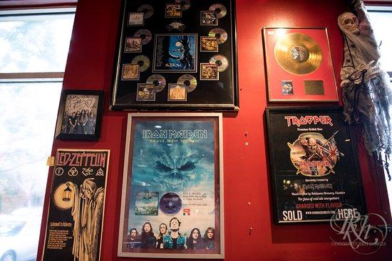 Rock n Roll Ribs: One of the memorabilia walls.