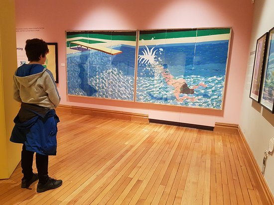 One of David Hockney\'s Swimming Pool paintings - Picture of ...