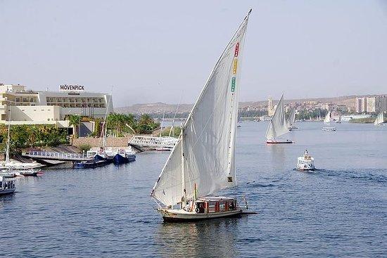 Botanical garden with Felucca ride on Aswan Nile River: Private Felucca Tour: Aswan Botanic Gardens
