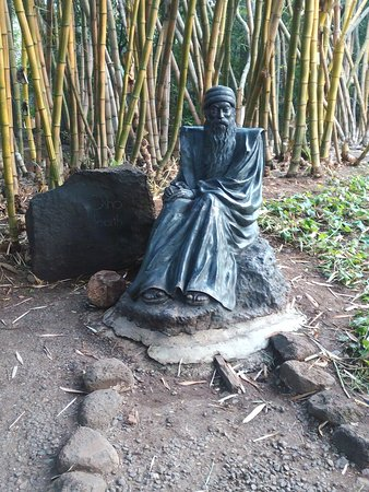 A statue of Osho in the park