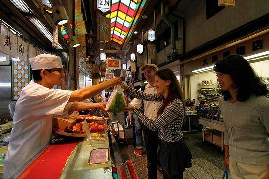京都烹饪课,清酒品尝和锦市食品市场徒步之旅