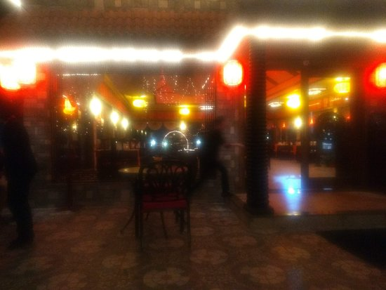 View of the Ming Dynasty Dining Hall from the outside seating