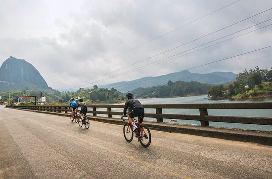 During our Tour Colombia 2.1 Altitude Bike Camp #CyclingTours - Guatapé, Colombia