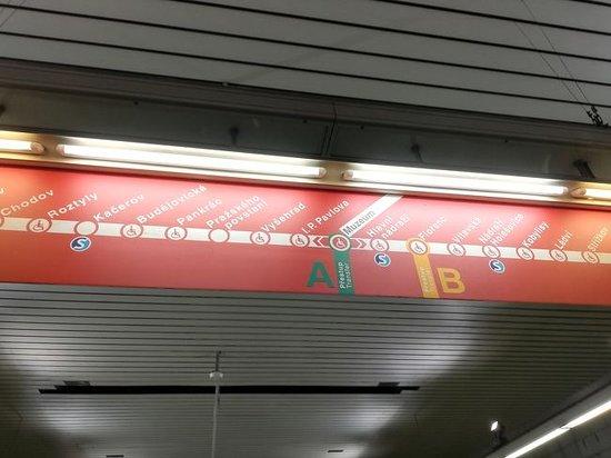 Prague Metro:  MUZEUMAで乗り換え