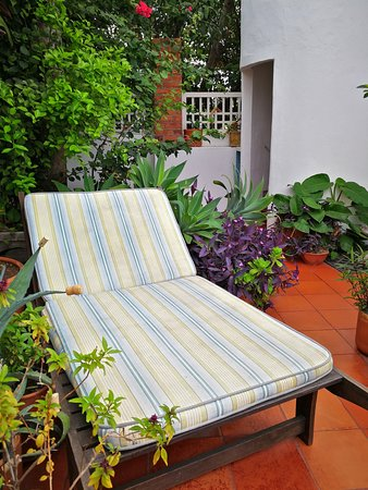 Lounge chair at the roof terrace
