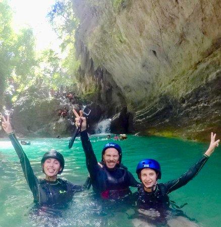 Blu Range Tours: Giorgio, Stella & Denisa during their Canyoneering at Badian, South Cebu