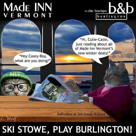 Place to Stay in Burlington Vermont March 29 - 30, 2019: Made INN Vermont, a Downtown Burlington