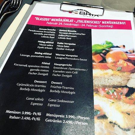 Amazing menu at amazing price