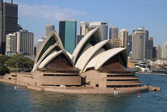Sydney Opera House with city background