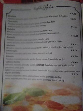 menu' sapori di sicilia