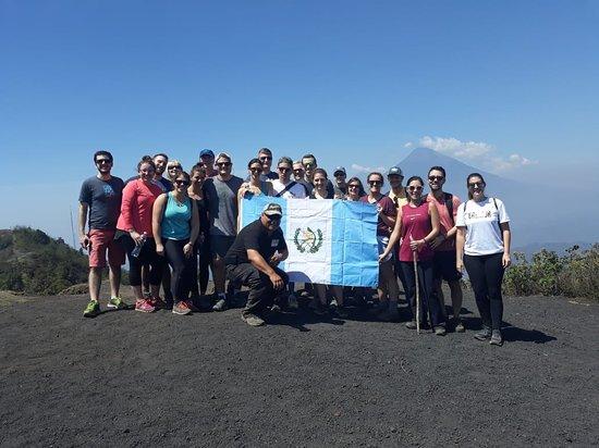 Excursión de 23 personas al volcán de Pacaya. Febrero 2019