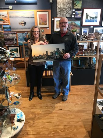 Another artist, Rusty Lewis is welcomed by the Gallery