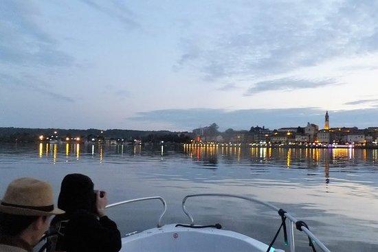 ミラノの美しいマッジョーレ湖のサンセットクルーズ(最大4 p)(電車含む)