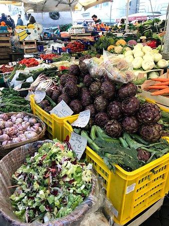 Campo de' Fiori: Verduras frescas