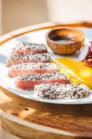 Sugar Beach Talpe: Sesame crusted tuna steak